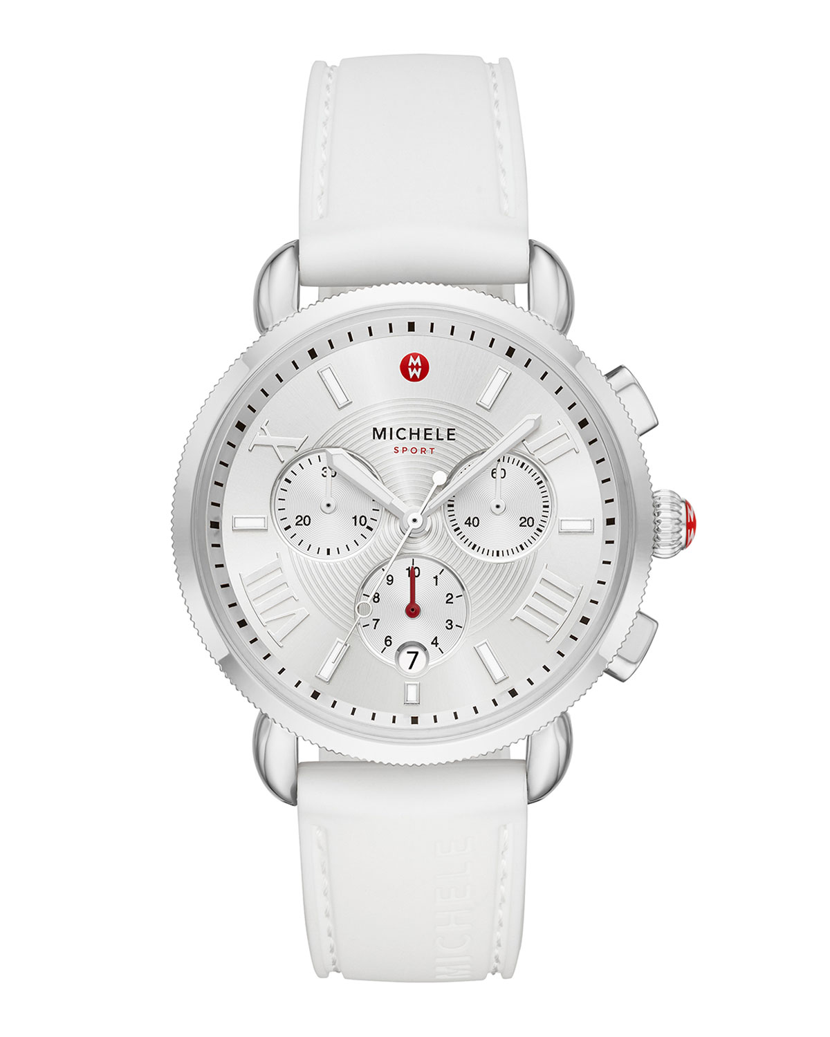 Sporty Sail Stainless Watch in White/Silver