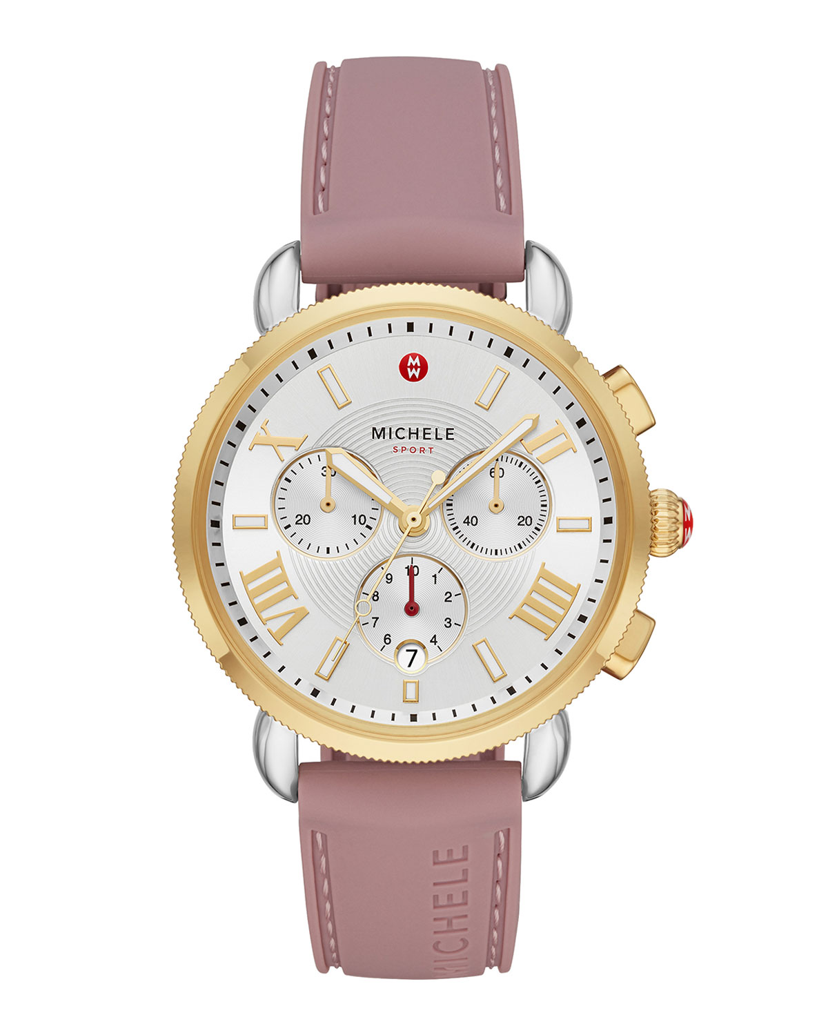 Sporty Sail 18k Gold Watch in Pink