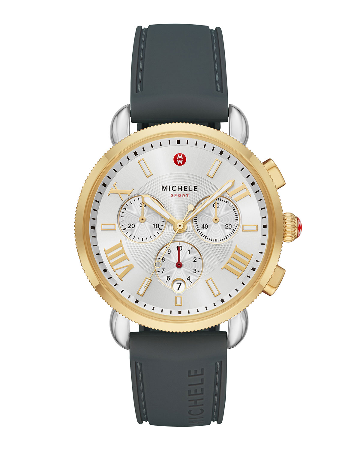 Sporty Sail Two-Tone 18k Gold Watch in Blue