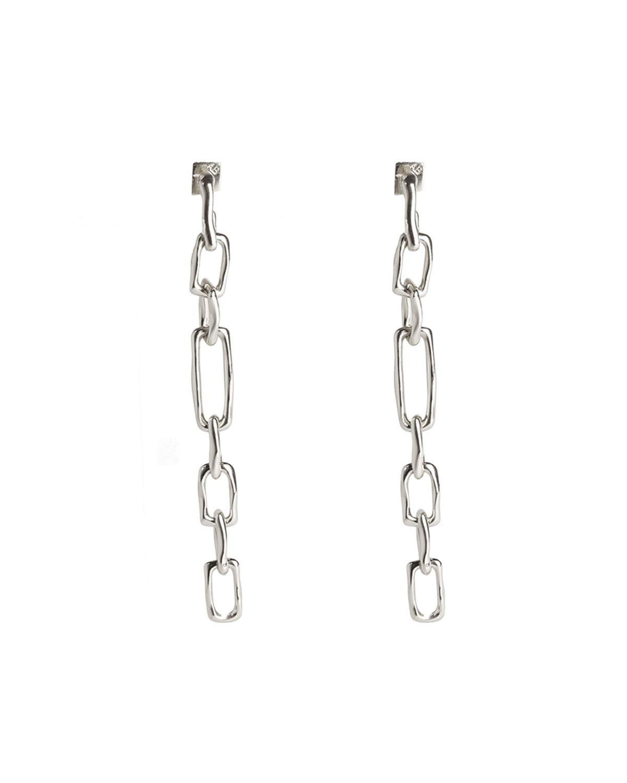 Long Chain Link Post Earrings