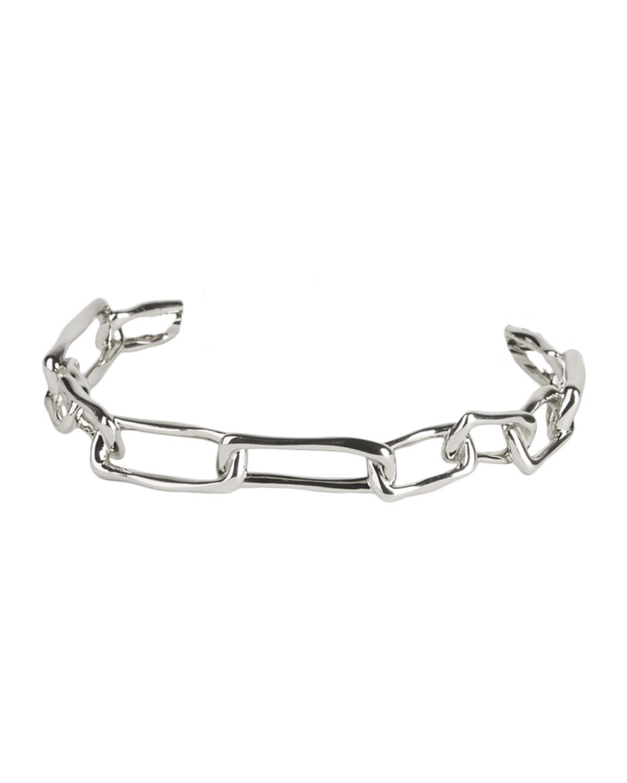 Chain-Link Skinny Cuff Bracelet