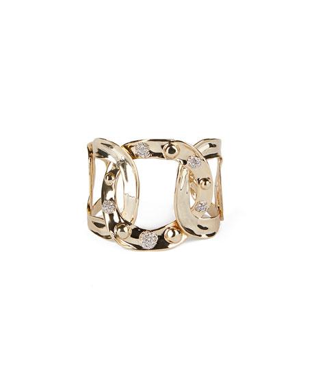 Alexis Bittar Pave Studded Interlink Cuff Bracelet