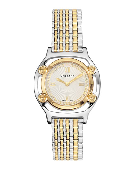 Versace Medusa Frame Watch with Bracelet Strap, Two-Tone