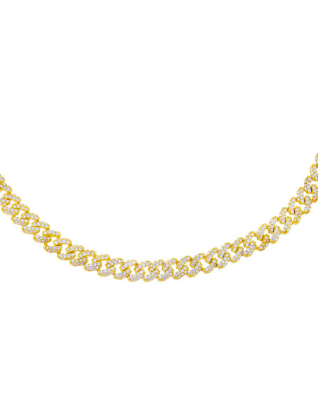 ADINAS JEWELS Mini Pave-Set Chain Link Choker Necklace