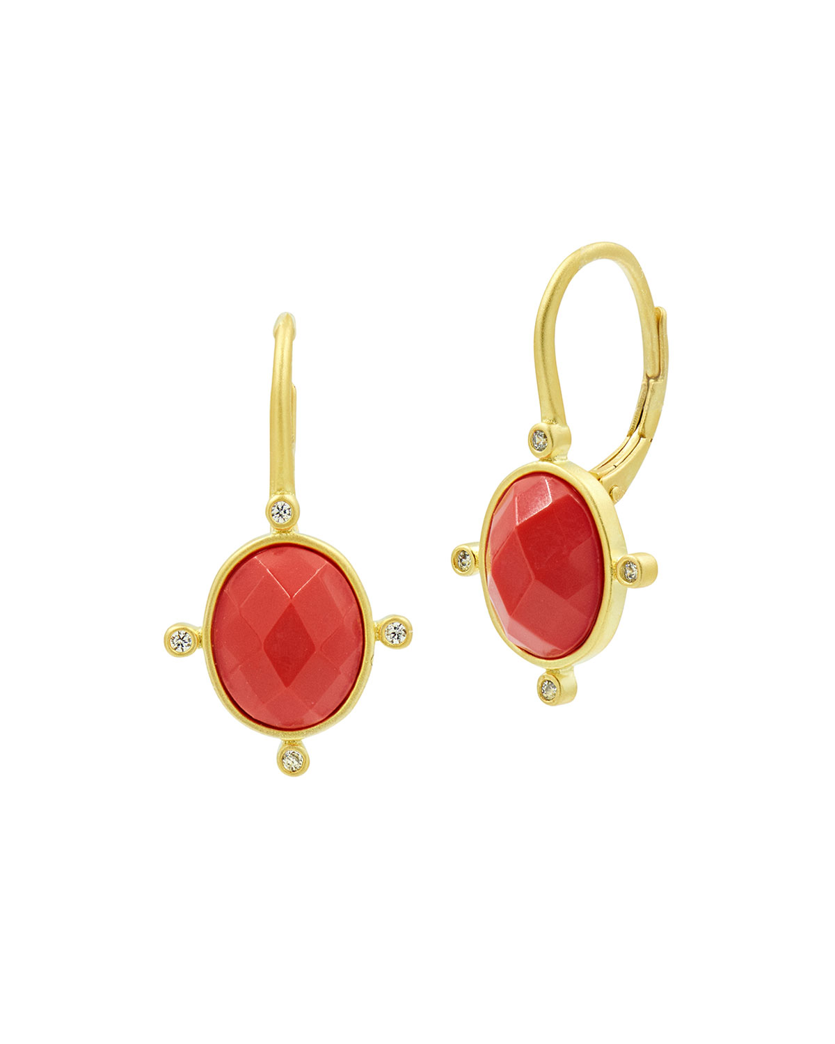 Never Enough Color Coral Lever Back Earrings