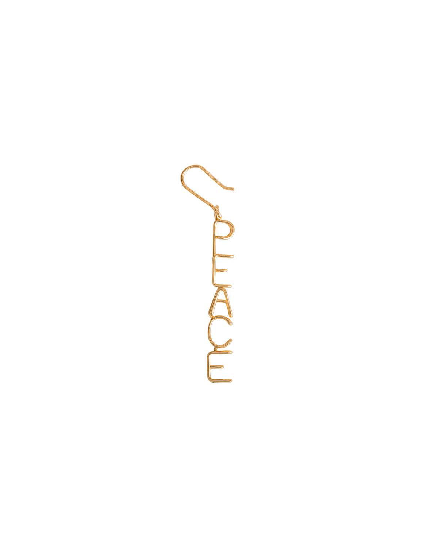 18k Peace Drop Earring