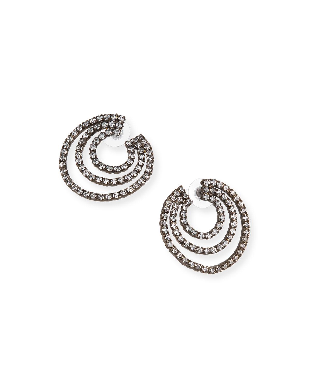 Orion Triple Open Circle Earrings