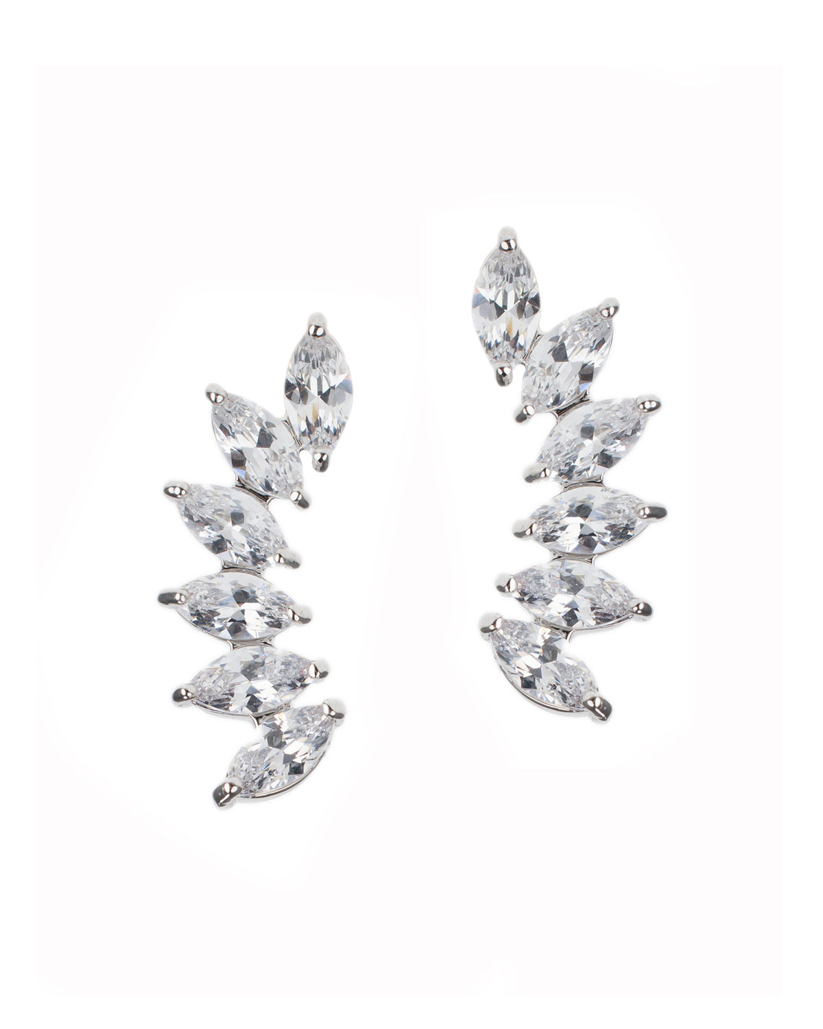 Curved Cubic Zirconia Earring Crawlers