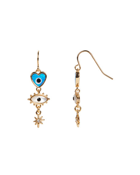 Rebecca Minkoff Mixed Charm Drop Earrings