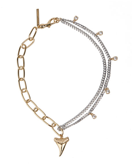Rebecca Minkoff Shark Tooth Multi-Chain Necklace