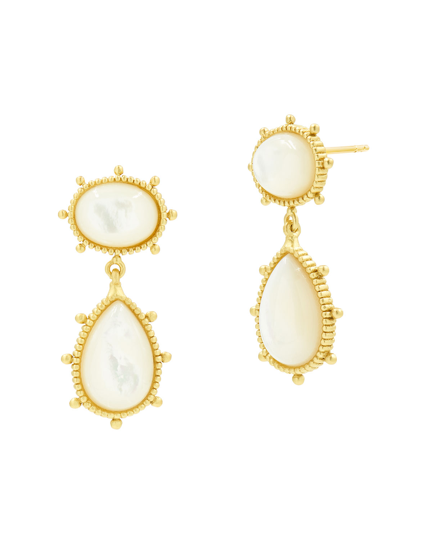 Mother-of-Pearl Double Drop Earrings