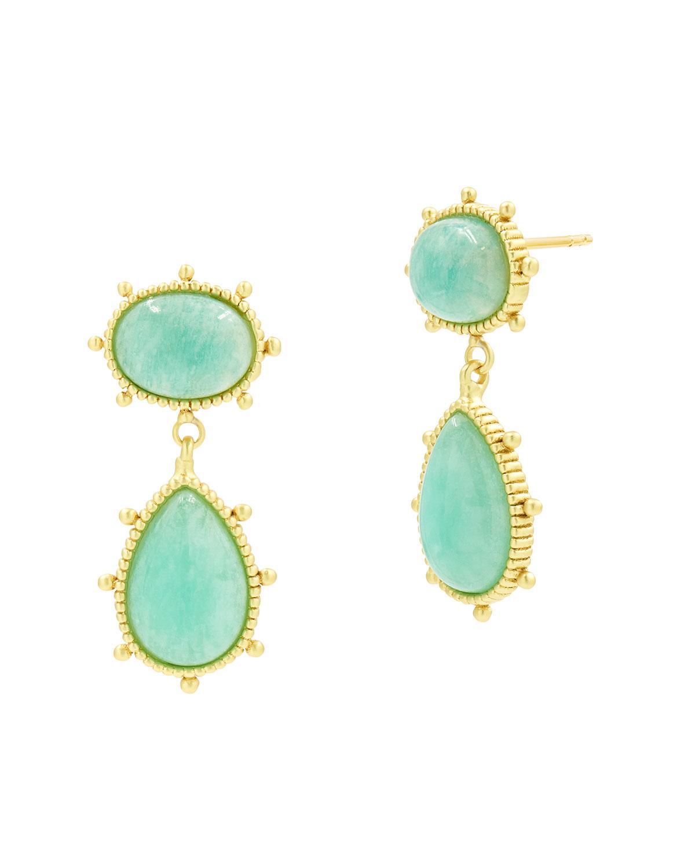 Amazonite Double Drop Earrings