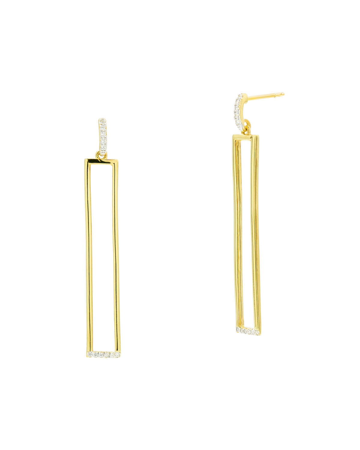 Cubic Zirconia and Elongated Earrings