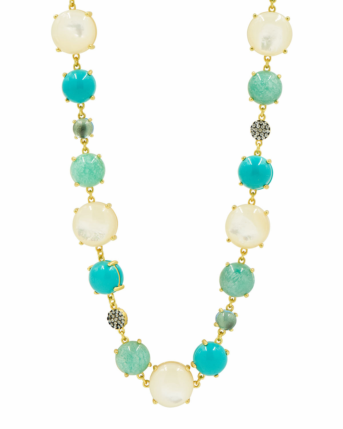Multi-Stone & Mother-of-Pearl Necklace