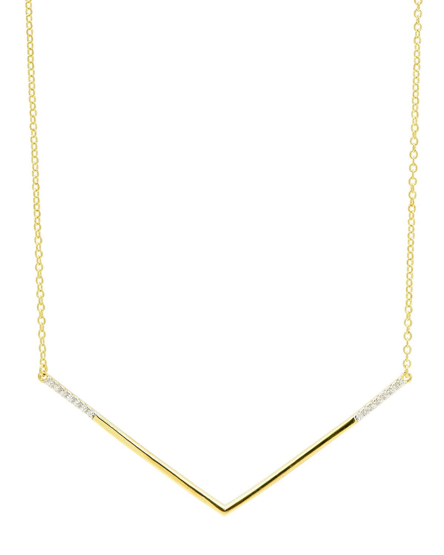 Wide V-Pendant Necklace