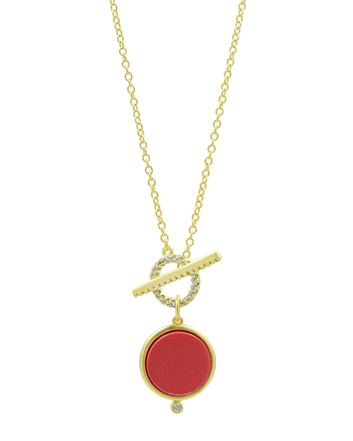Coral Toggle Necklace