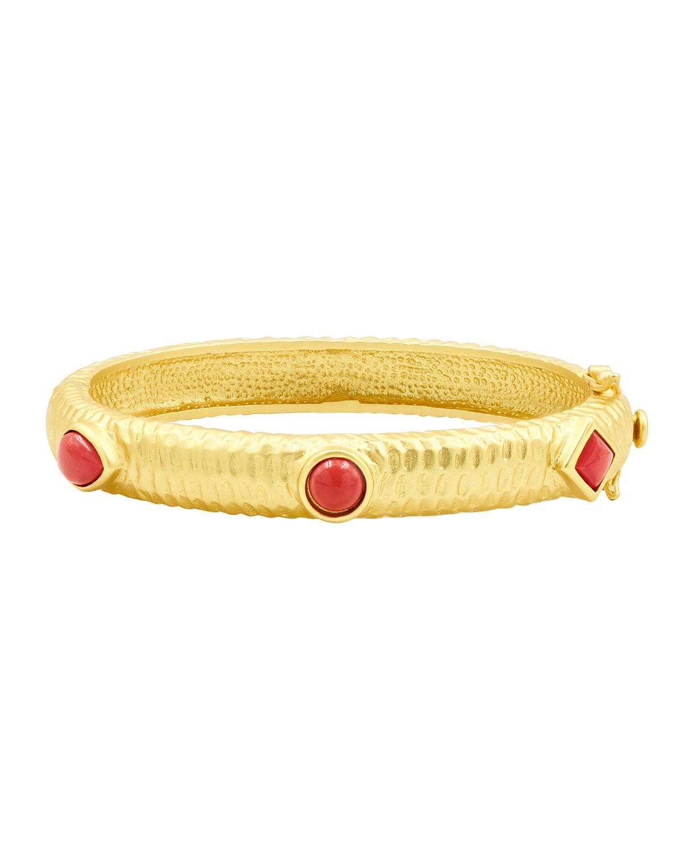 Coral Bangle Bracelet