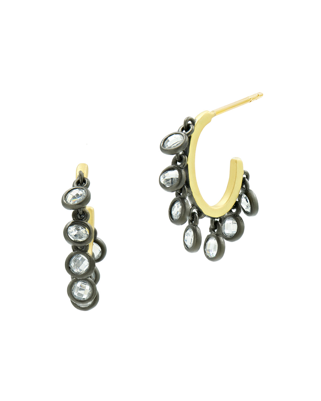 Cubic Zirconia Shaker Hoop Earrings
