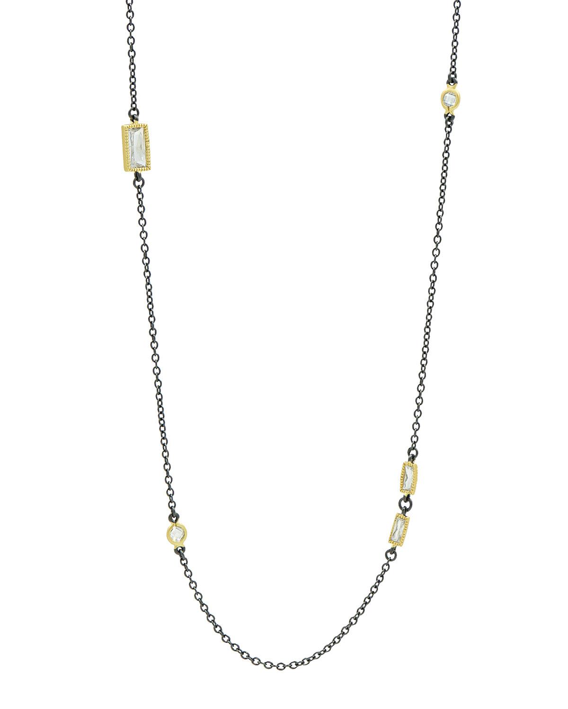 Long Cubic Zirconia Necklace