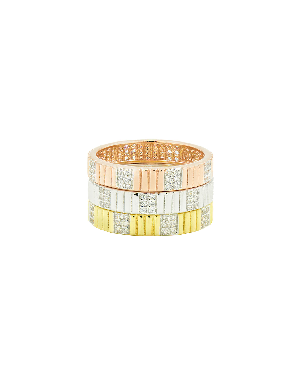 Tricolor Stack Rings