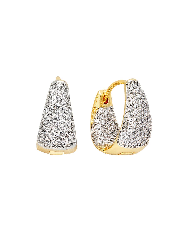 Cubic Zirconia Pave Mini Huggie Hoop Earrings