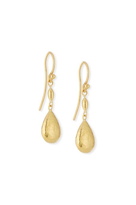 Gurhan 24k Delicate Bead Short Hollow Drop Earrings