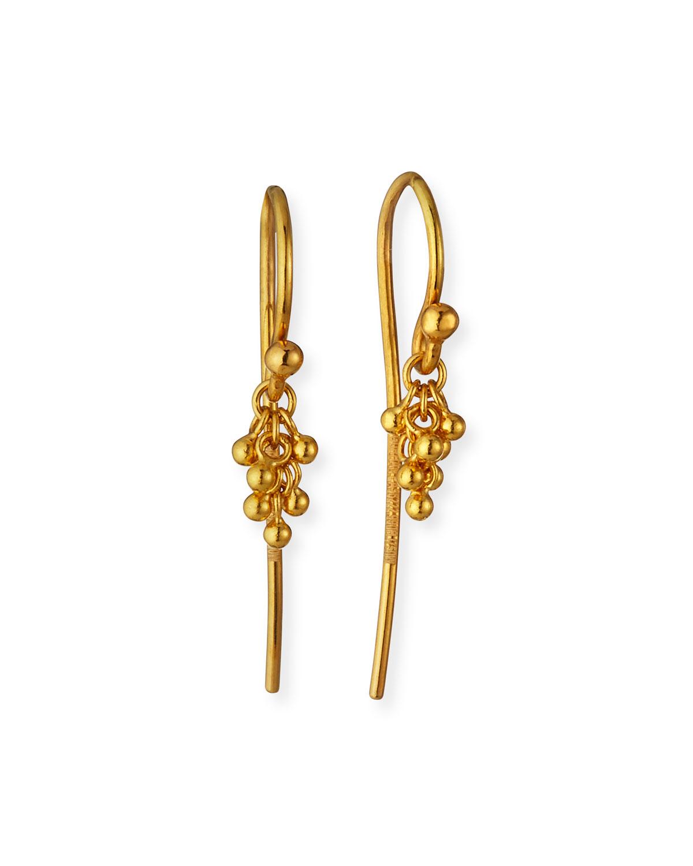 24K Gold Crisscross Chain Hook Earrings
