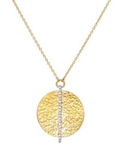 Pendant Cle De La Chance plated gold clover .