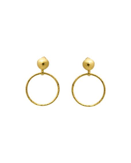 Gurhan Geo 24k Hoop-Drop Earrings