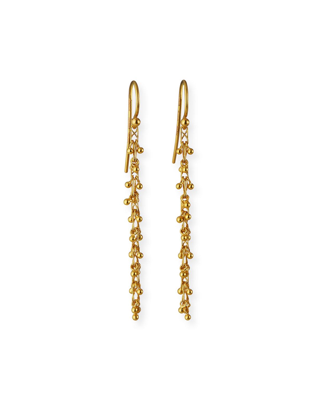 Long Crisscross Chain Cluster Earrings