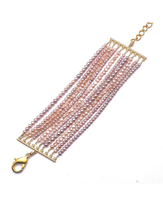 Multi-Row Pearl Bracelet