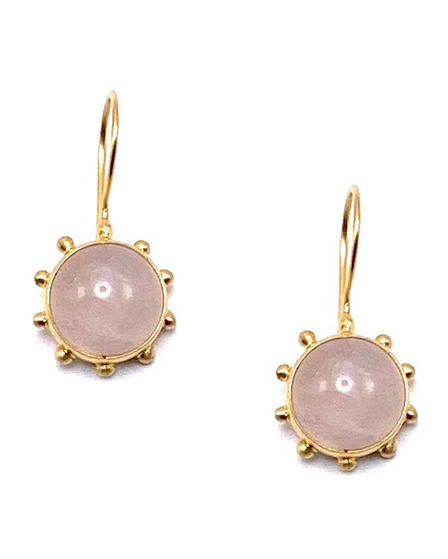 Rose Quartz Pinwheel Earrings