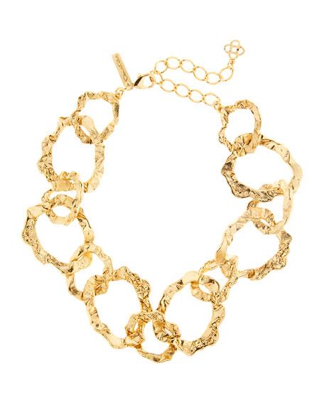 Oscar de la Renta Crinkle-Link Necklace