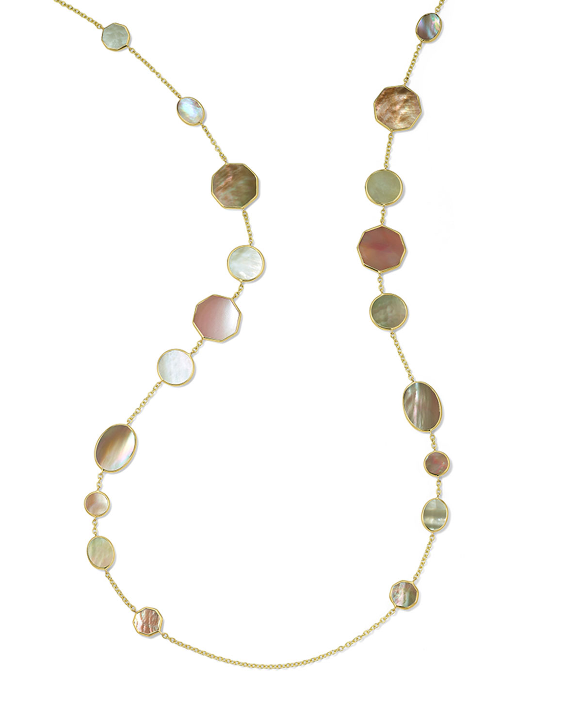 Ippolita 18K POLISHED ROCK CANDY CRAZY EIGHTS NECKLACE IN DAHLIA