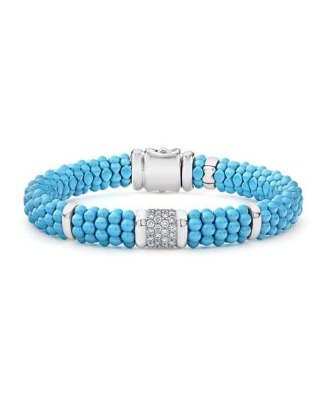 Lagos Blue Caviar 4-Link Ceramic Diamond Rope Bracelet