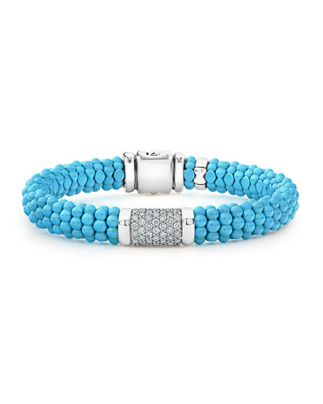 Lagos Blue Caviar 7-Link Diamond Station Bracelet