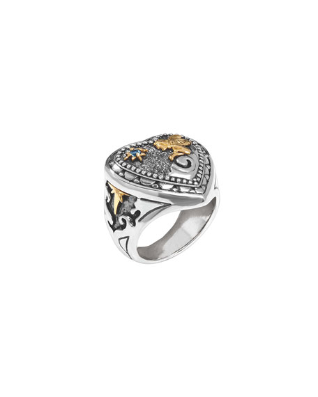 Konstantino Angelic Two-Tone Gazer Heart Ring