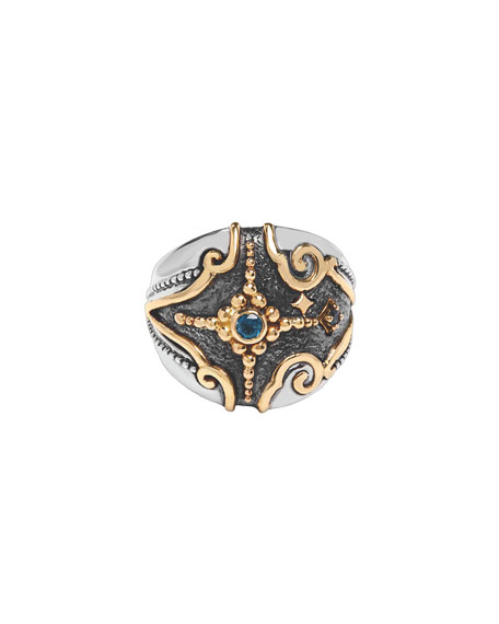 Konstantino Angelic Cosmocrat London Blue Topaz Ring