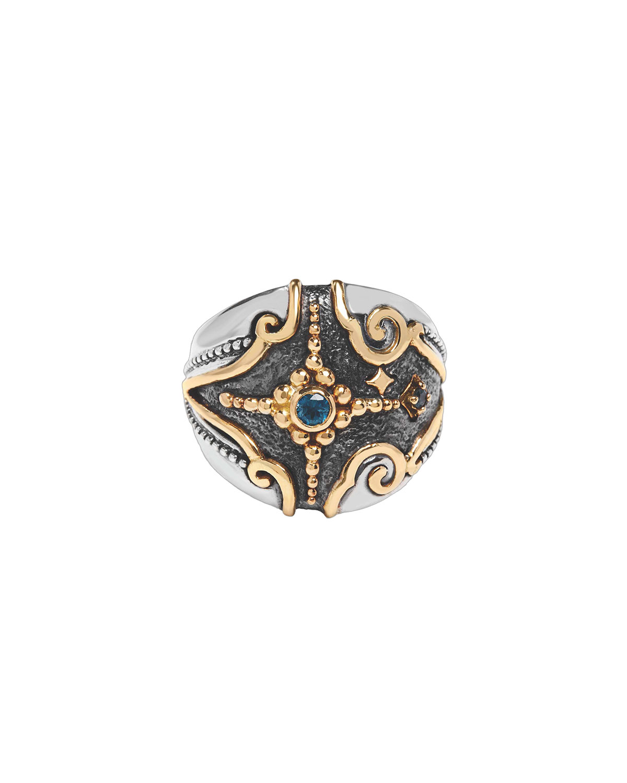 Angelic Cosmocrat London Blue Topaz Ring