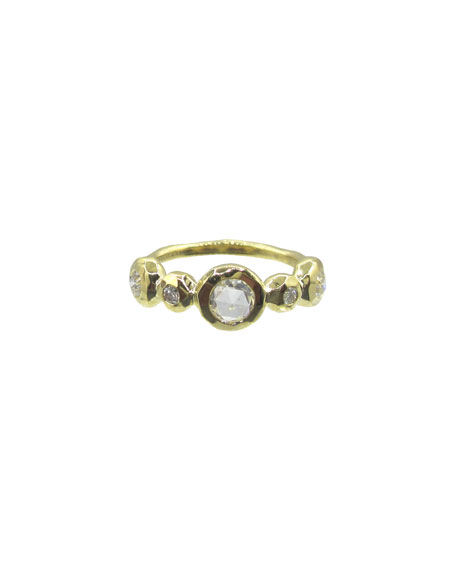 Ippolita 18K Stardust Medium 5-Diamond Ring, Size 7