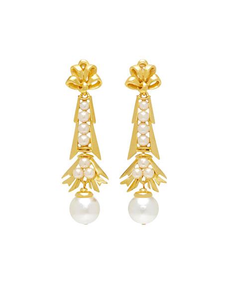 Ben-Amun Pearly Dangle Earrings