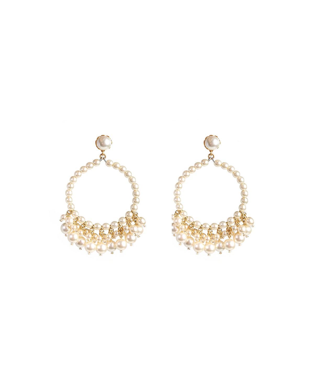 Pearly Hoop and Shaker Earrings