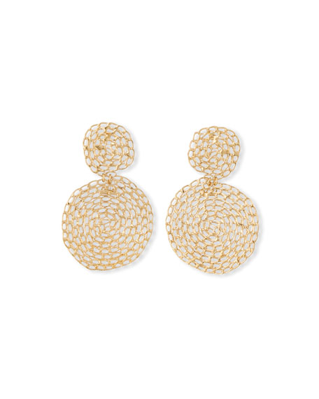 Gas Bijoux Onde Small Gourmette Hammered Chain Drop Earrings
