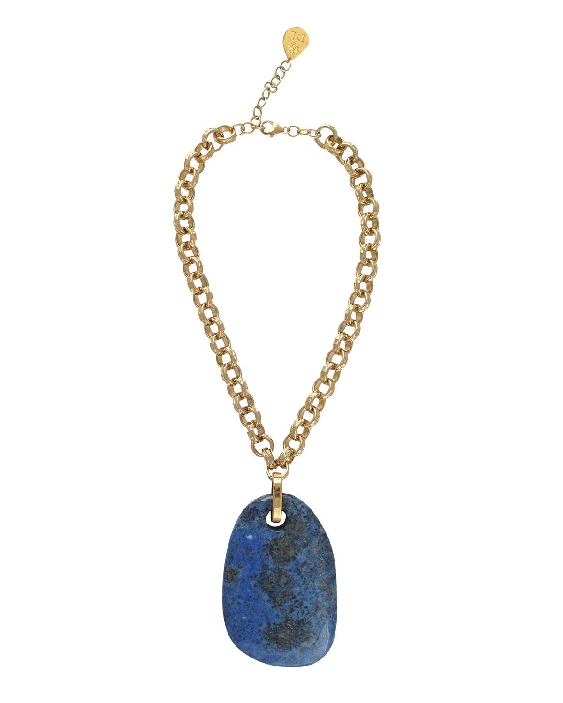 Blue Lapis Pendant Necklace