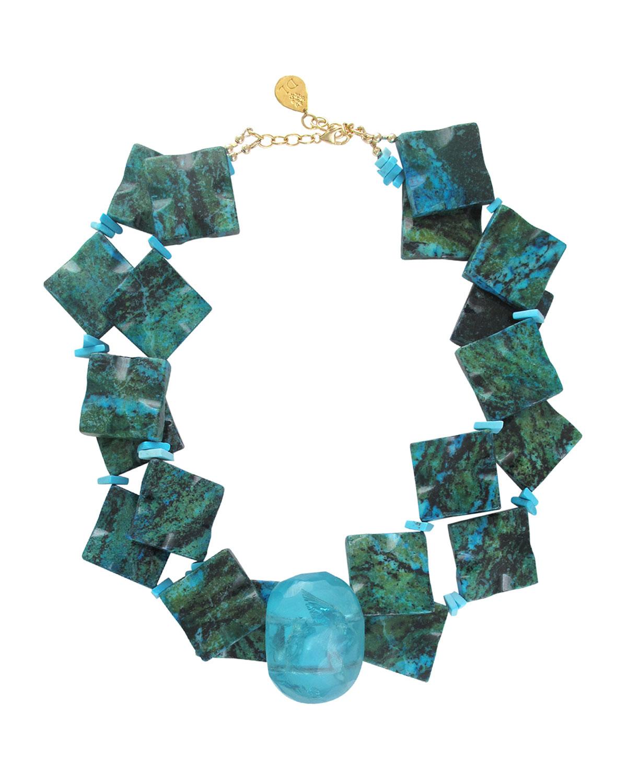 Chrysocolla & Turquoise Necklace