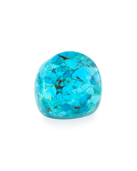 NEST Jewelry Turquoise Statement Ring, Size 6-8