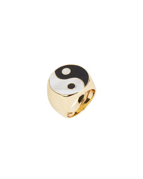 Rebecca Minkoff Yin Yang Adjustable Signet Ring