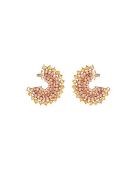Mignonne Gavigan Mini Luca Hoop Earrings, Rose Gold