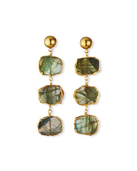 NEST Jewelry Labradorite Triple Drop Earrings