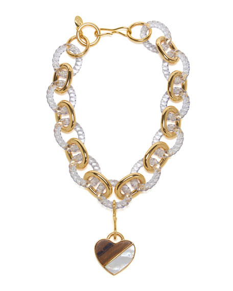Lizzie Fortunato Mirrored Sea Necklace with Heart